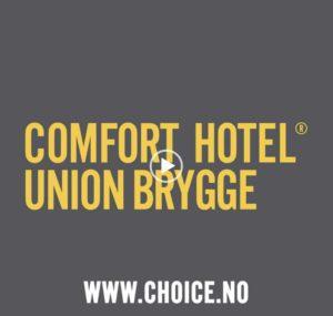 Bo på det offisielle PRIDE-hotellet i Drammen - Comfort Hotell Union Brygge! Bruk kodet PRIDEDRAMMEN på choice.no